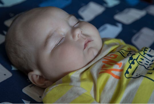 Kara Boulter's 6-month-old son Nolan, is severely disabled with seizures. Kara is a supervisory federal air marshal and the law enforcement community is rallying for her to help with medical bills.   Berkeley Township, NJ Friday, August 17, 2018
