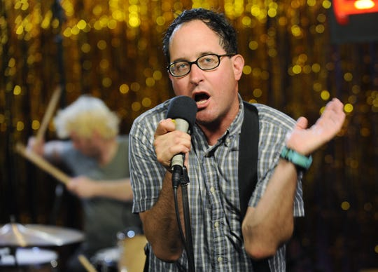 Craig Finn of The Hold Steady performs during a taping of the band for The New Now on Yahoo! Music in Santa Monica, Calif., Wednesday, July 8, 2009.