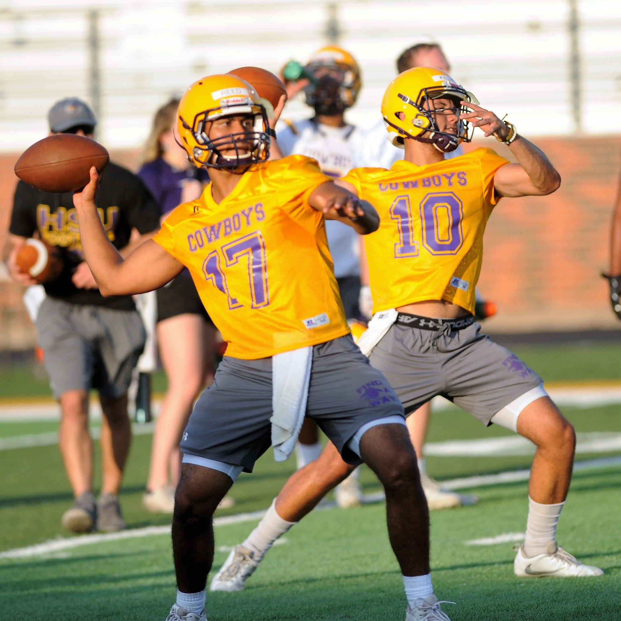 Hardin-Simmons sets foundation in first football workout