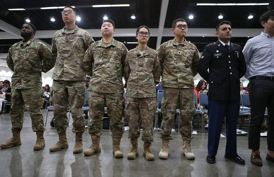 Immigrants In Military