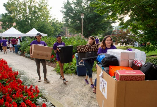 Like all colleges in the UNC system, WCU has taken a financial hit from the COVID-19 pandemic. This file photo came from a pre-pandemic move-in day.