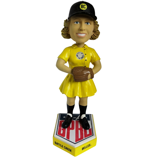 Battle Creek Belles Aagpbl All American Girls Professional Baseball League Bobblehead