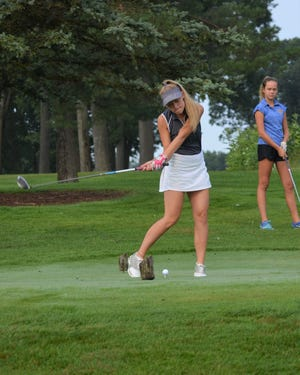 Lakeview's McKenna Evans takes a swing during the Gull Lake Invitational this week.