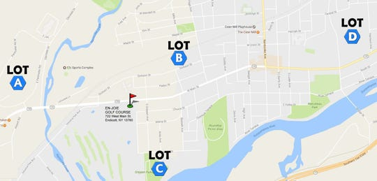 Parking Map released by Dick's Sporting Goods Open.