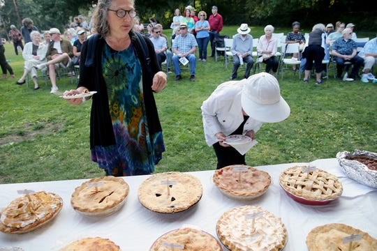 For the last six years Rebecca Ifland (left) has a baked and donated a pie made with Village Green Park apples to Pie in the Park.