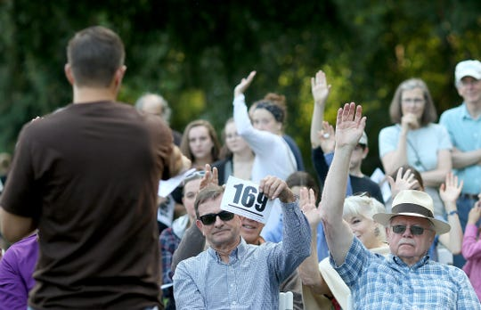 The annual Village Green Foundation's Pie in the Park celebration on Thursday in Kingston,