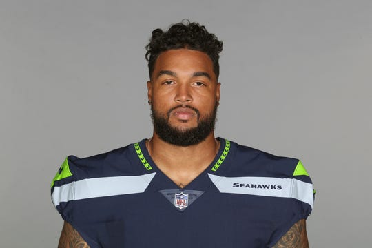 This is a 2018 photo of Marcus Smith of the Seattle Seahawks NFL football team. This image reflects the Seattle Seahawks active roster as of Monday, June 11, 2018 when this image was taken. (AP Photo)