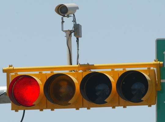 Detail of traffic light camera.