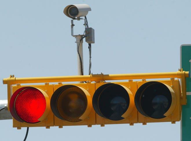Detail of traffic light camera.