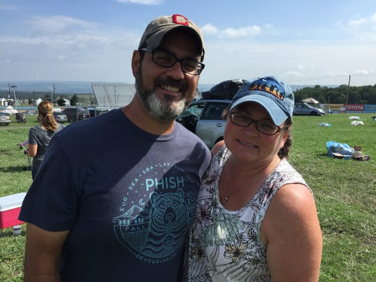 Matt and Deb Ellis planned to head home to Bangor, Maine, Aug. 17, 2018, following the cancelation of Phish's Curveball festival in Watkins Glen, N.Y.