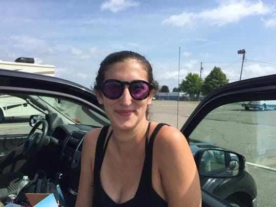 Holly Berman of New Jersey hoped to go hiking Aug. 17, 2018 following cancellation of Phish's Curveball festival in Watkins Glen, N.Y.
