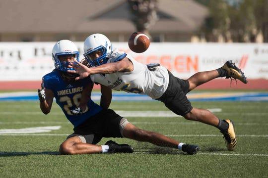 Texas A&M Kingsville football team practices on Friday August 17, 2018 at Javelina Stadium.