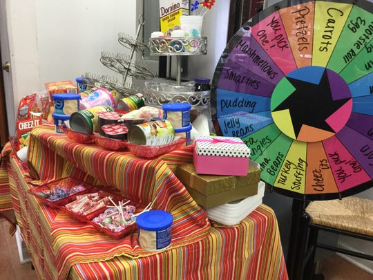 Party guests get to spin the wheel at Marie's Mom's Italian Cookie Cupboard and Bakery in Marlton.