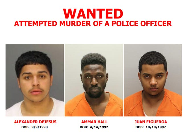 Investigators have identified three suspects in the Aug. 7 shooting of two Camden County Police detectives.