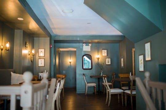A view of the newly renovated dining area inside Porch & Proper in Collingswood.