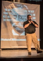 Spearheaded by the Ross County Safety Council, an active shooter presentation was held at the Majestic Theatre Thursday afternoon in Chillicothe. Participation in the scenario included individuals from the Chillicothe Police Department, the Chillicothe Fire Department, and the Ross County Sheriff's Office.