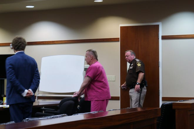 Mark Huffman pleaded guilty to two counts of murder in a plea deal in August.