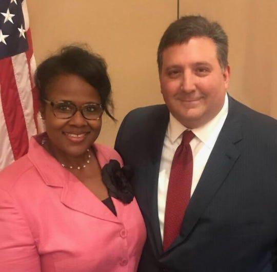 Hamilton County GOP Vice Chairwoman Kristie Davis and Chairman Alex Triantafilou