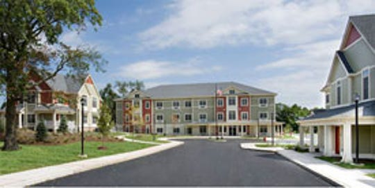 A schematic drawing of Phase II of Valley Brook Village.