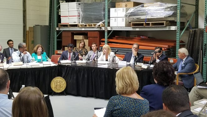 Senator Vin Gopal hosted a hearing of the Bipartisan Legislative Manufacturing Caucus to gauge the needs of the manufacturing industry at SPEX Certiprep in Metuchen on Tuesday, August 14, discussing the issues impacting their businesses, including tariffs, apprenticeships and minimum wage.