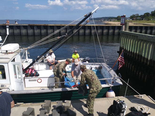 Approximately 1.5 million juvenile oysters were transported from Leonardo State Marina aboard the Baykeeper patrol boat and taken to the Living Shoreline at Naval Weapons Station Earle (NWSE), where the fledgling oysters were introduced by NY/NJ Baykeeper's team of scientists.