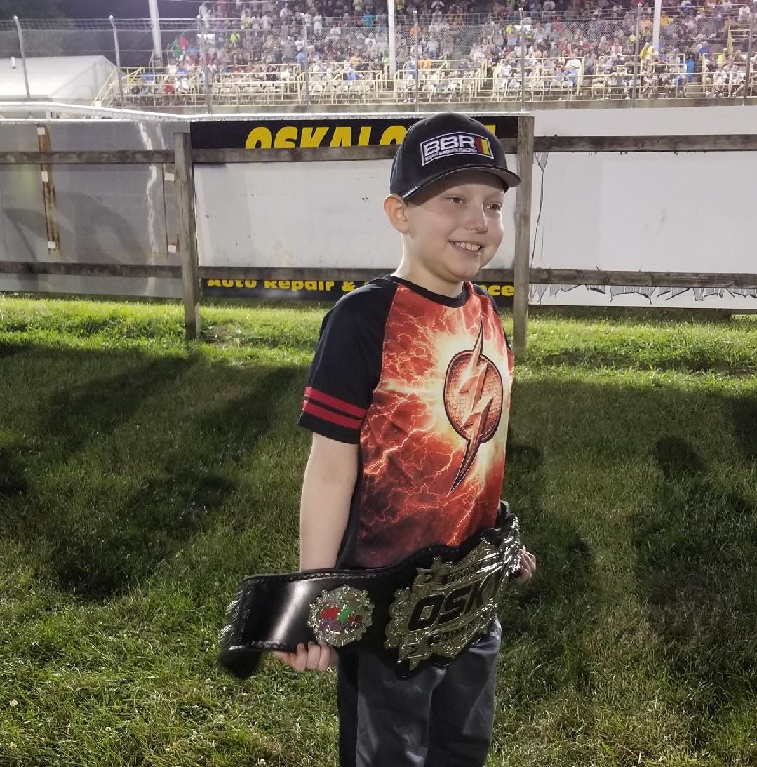 An 11-year-old boy dying from leukemia wants racing stickers for his casket