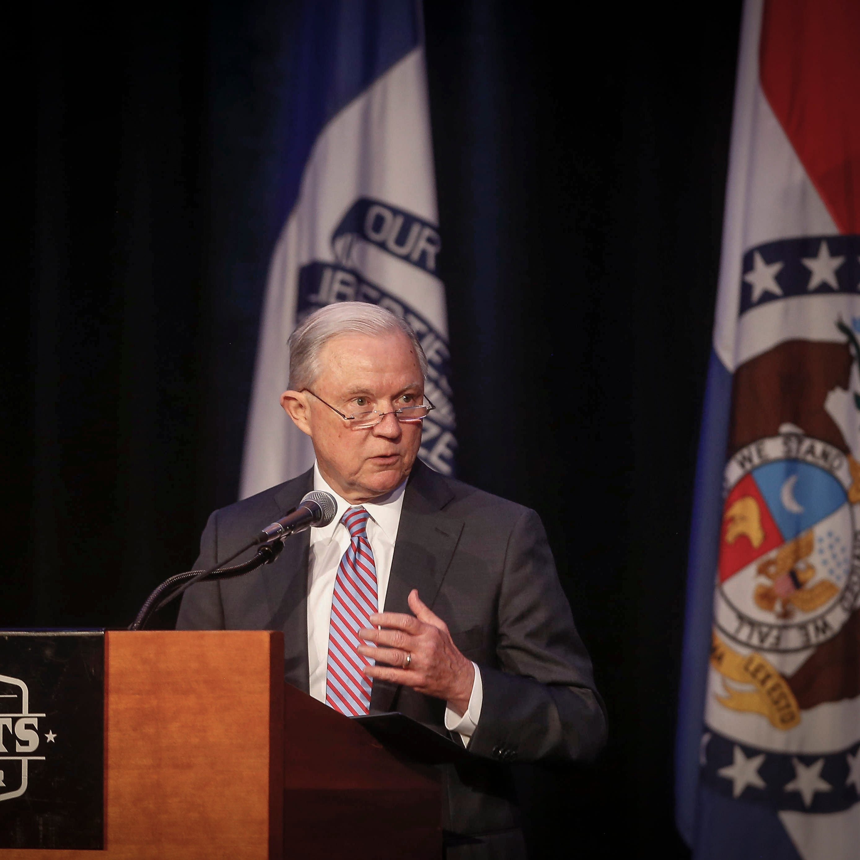 United States Attorney General Jeff Sessions speaks during the Eighth Circuit Judicial Conference on Friday, Aug. 17, 2018, in Des Moines.