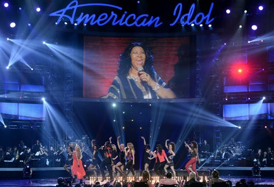 """Aretha Franklin performed via satellite during Fox's """"American Idol 2013"""" Finale Results Show on May 16, 2013, in Los Angeles."""