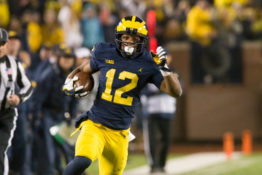 "Chris Evans on Michigan's 2018 offense: ""It's less downhill running game. It's more spread out a little bit for the quarterbacks."""