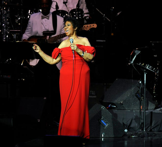 """Aretha Franklin performed """"Until You Come Back To Me"""" during her concert held at DTE Energy Music Theater in Clarkston, Mich., on  July 12, 2014."""