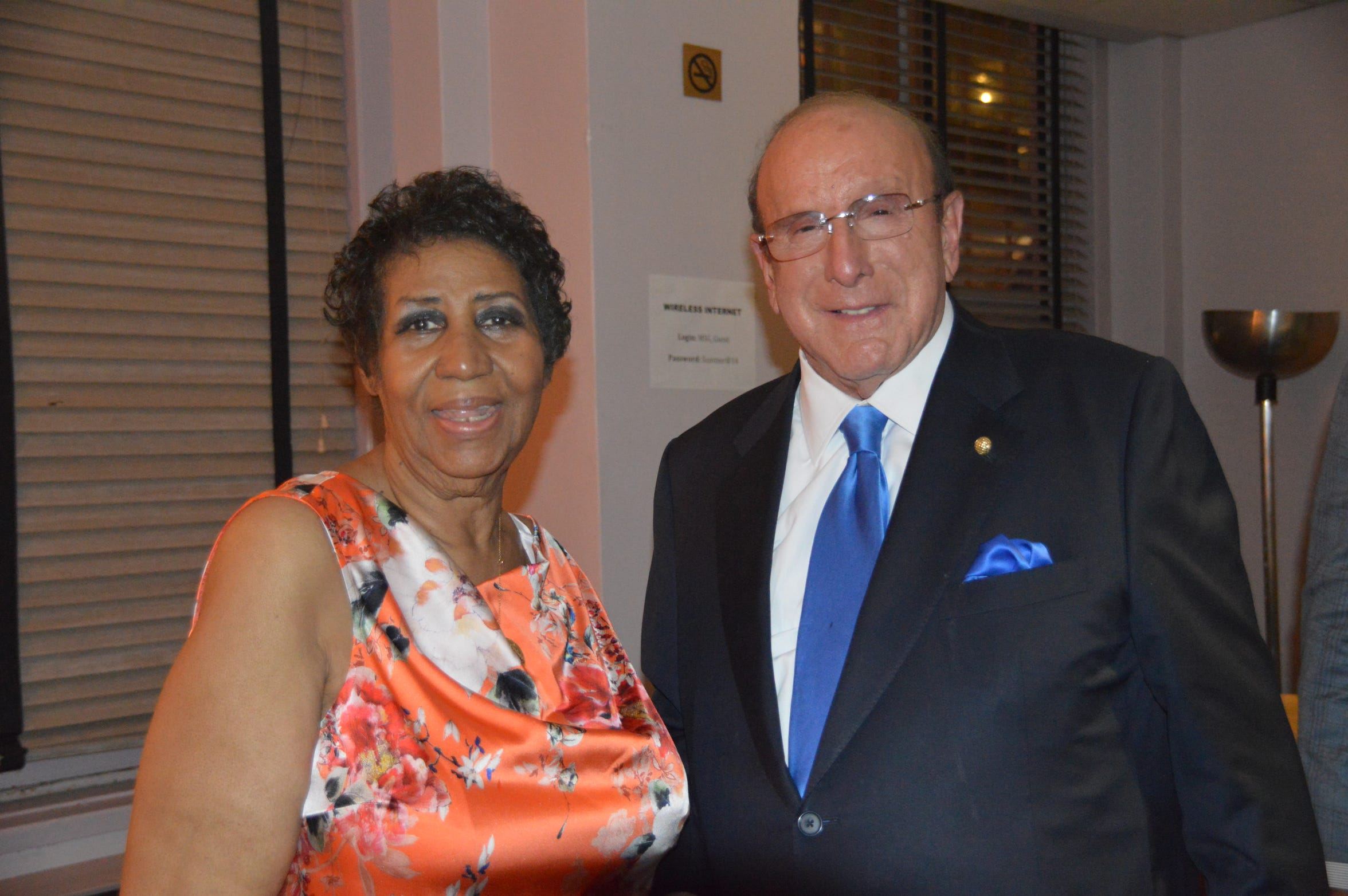 Aretha Franklin and Clive Davis, who signed her to Arista Records in the '80s.