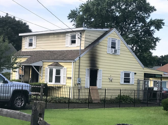 This house on Lake Road in the Town of Horseheads was damaged by a fire that broke out early Friday morning.
