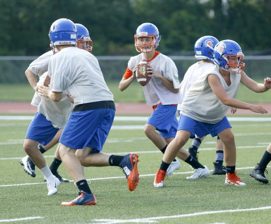 The Thomas A. Edison football team practices Aug. 16 at Edison High School.