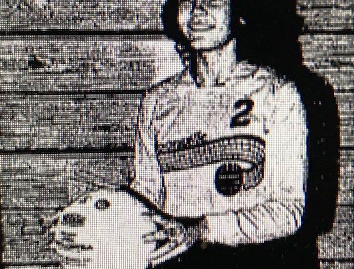 Tammy Lohr poses with a volleyball during her school days at Boonville High School.