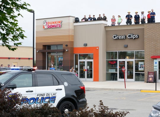 Local emergency responders teamed up with Special Olympics Wisconsin in 2018 at the Dunkin Donuts on West Johnson Street in Fond du Lac.