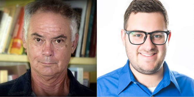 Neilson Ayers (left) and David Bogner are campaigning to unseat state Rep. Ray Rodrigues in district 76's first Democratic primary since 1990.