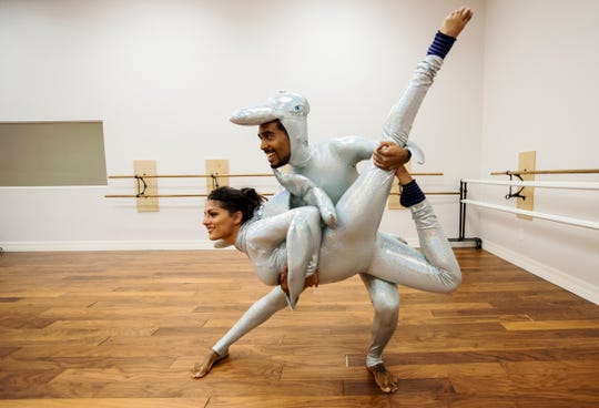 """Andrea McCain and Xylo Zohn Smith-Pajares, both from Fort Myers, will be performing in a circus show entitled """"Circus TransformUs"""" which will play for two days at Broadway Palm (Aug. 25-26)."""