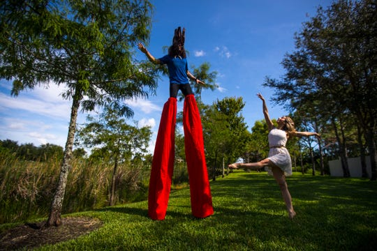 """Garrett Foster, of Fort Myers and Sami Doherty, of Cape Coral, co-owner of Melody Lane Performing Arts Center, will be performing in a circus show entitled """"Circus TransformUs"""" which will play for two days at Broadway Palm (Aug. 25-26)."""