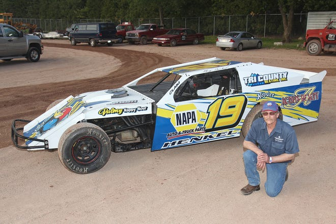 George Henkel, 59, of Sturgeon Bay returned this year after a 14-year hiatus from racing. Henkel competes at The Hill in Sturgeon Bay, his home track, in a sportmod.