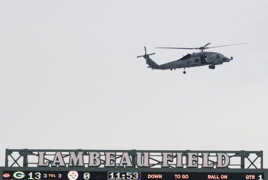 Lambeau Field helicopter 'flyover' suprised Green Bay