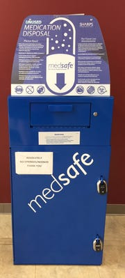 The state has received a grant to place Medsafe bins in pharmacies, hospitals and clinics so people can properly dispose of unwanted prescription drugs.