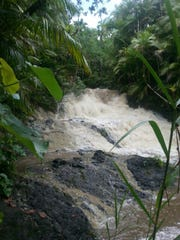 This August 2014 photo shows how strong the river current was near the San Carlos Falls in Nimitz Hill when Christine Remetio Agulto drowned after she lost her footing and was swept away.