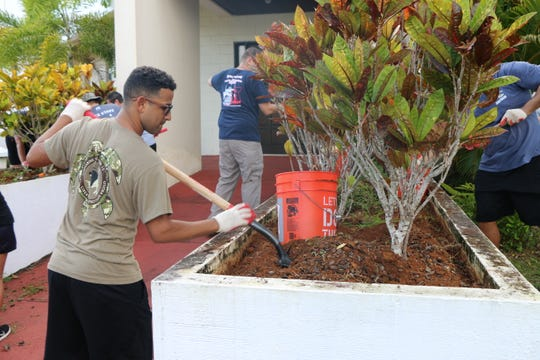 The organizations were lead by Raymond Shinohara of the Guam Green Valor Organization; Jon Savares, president of the University of Guam Veterans Organization; Rodney Cruz, president of the Operation Iraqi Freedom/Operation Enduring Freedom Iraq, Afghanistan and Persian Gulf Veterans of the Pacific; as well as volunteers from the Guam Community College Veterans Club and active duty Navy personnel and their families.