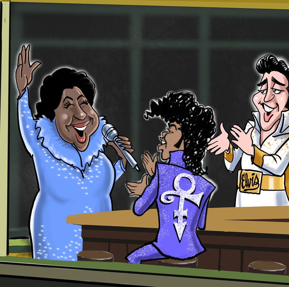 Cartoonist Gary Varvel: Aretha Franklin