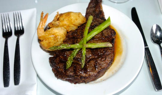 U.S.D.A. prime rib-eye steak is one of the popular menu items at Ely's Restaurant & Bar in Olde Town Ridgeland.