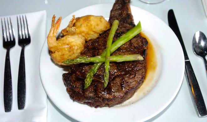 U.S.D.A. prime rib-eye steak is one of the popular menu items at Ely's Restaurant & Bar in Olde Town Ridgeland.