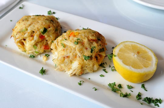 Crab cakes are one of the house specialities at Ely's.