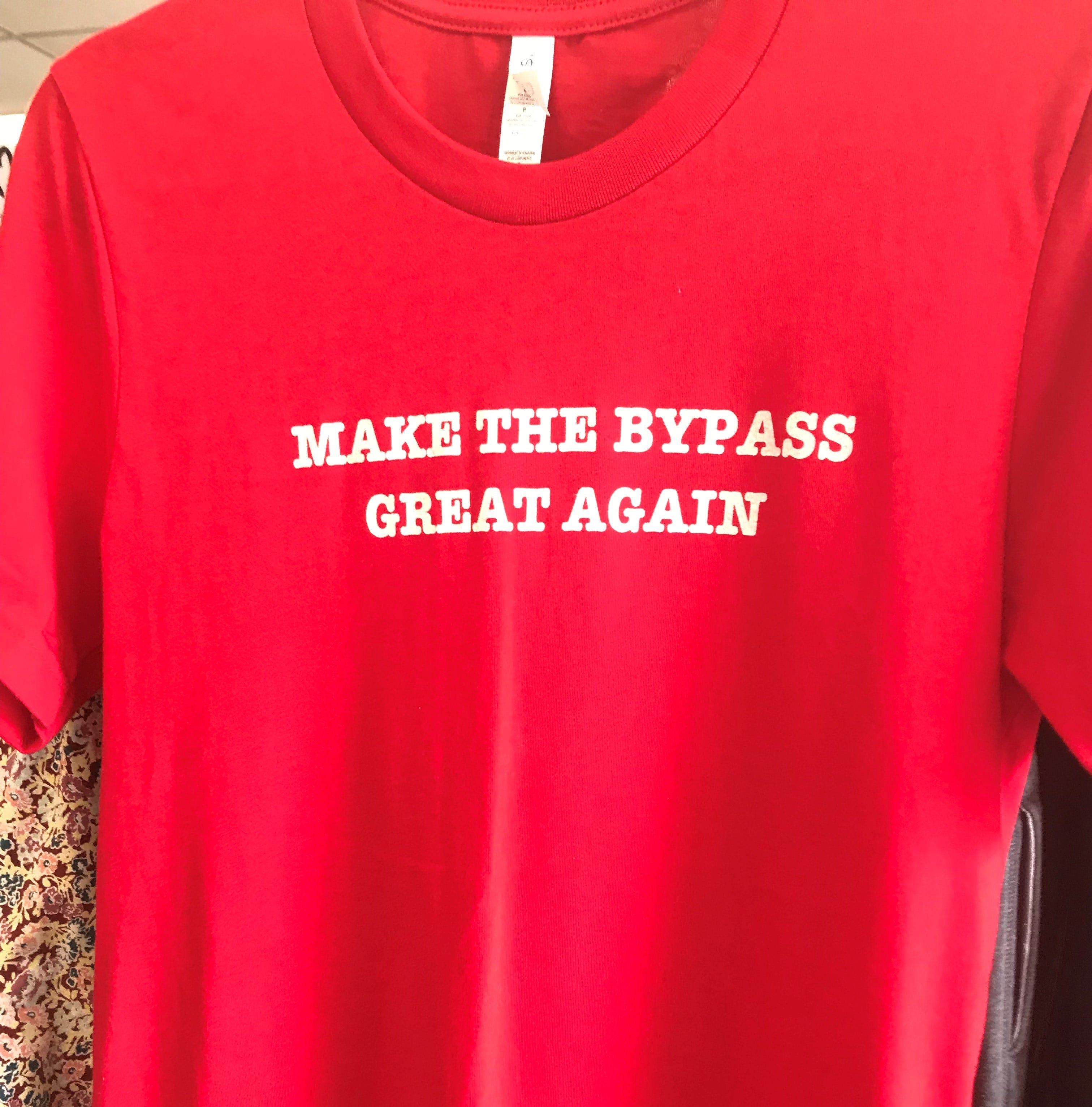 Local business selling 'Make The Bypass Great Again' shirts
