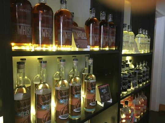 Product options at PostModern Spirits, 205 W. Jackson Ave.