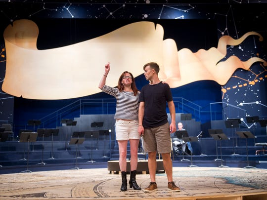 """Actors rehearse scenes in Leonard Bernstein's """"Candide"""" at the Clarence Brown Theatre on the University of Tennessee's campus on Aug. 16. The play will run Aug. 29 through Sept. 16."""